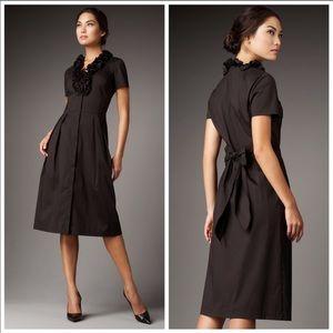 Lafayette 148 Black Ruffle Collar Dress